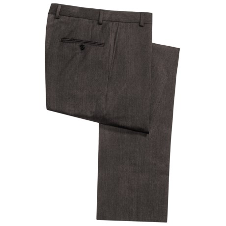 Hickey Freeman Twill Dress Pants - Worsted Wool, Flat Front (For Men) in Dark Olive
