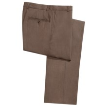Hickey Freeman Twill Dress Pants - Worsted Wool, Flat Front (For Men) in Med Brown - Closeouts