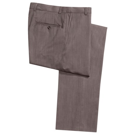 Hickey Freeman Twill Dress Pants - Worsted Wool, Flat Front (For Men) in Tobacco