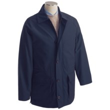 Hickey Freeman Twill Horsey Coat - Loro Piana Storm System (For Men) in Navy - Closeouts