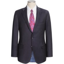 Hickey Freeman Wide Rope Stripe Suit - Worsted Wool (For Men) in Dark Navy/Blue - Closeouts