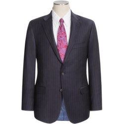 Hickey Freeman Wide Rope Stripe Suit - Worsted Wool (For Men) in Dark Navy/Blue