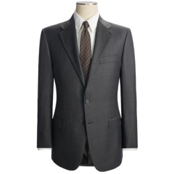 Hickey Freeman Wide Rope Stripe Suit - Worsted Wool (For Men) in Black