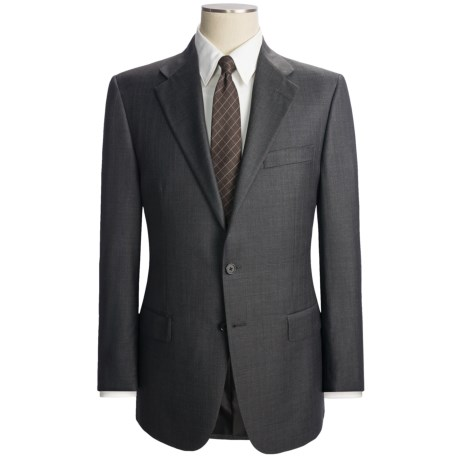 Hickey Freeman Wide Rope Stripe Suit - Worsted Wool (For Men) in Grey
