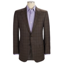 Hickey Freeman Windowpane Plaid Sport Coat - Worsted Wool (For Men) in Brown - Closeouts
