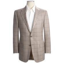 Hickey Freeman Windowpane Sport Coat - Silk-Cashmere (For Men) in Ash Brown - Closeouts