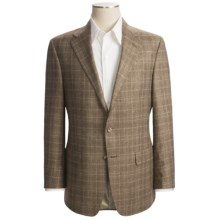 Hickey Freeman Windowpane Sport Coat - Silk-Linen (For Men) in Soft Brown - Closeouts