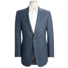 Hickey Freeman Windowpane Sport Coat - Wool-Silk-Linen (For Men) in Blue/Grey - Closeouts