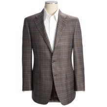 Hickey Freeman Windowpane Sport Coat - Wool-Silk-Linen (For Men) in Med Brown - Closeouts