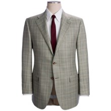 Hickey Freeman Windowpane Sport Coat - Wool-Silk-Linen (For Men) in Mint - Closeouts