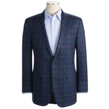 Hickey Freeman Windowpane Sport Coat - Wool-Silk-Linen (For Men) in Navy - Closeouts