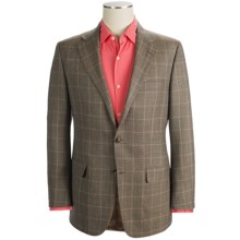 Hickey Freeman Windowpane Sport Coat - Worsted Wool (For Men) in Mocha - Closeouts