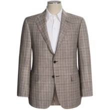 Hickey Freeman Windowpane Sport Coat - Worsted Wool-Linen (For Men) in Dark Brown/Purple - Closeouts