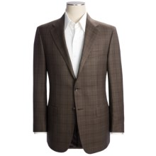 Hickey Freeman Windowpane Sport Coat - Worsted Wool-Linen (For Men) in Med Brown - Closeouts
