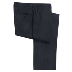 Hickey Freeman Wool Gabardine Dress Pants - Flat Front (For Men) in Black