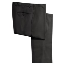 Hickey Freeman Worsted Wool Dress Pants - Flat Front (For Men) in Black - Closeouts