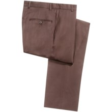 Hickey Freeman Worsted Wool Dress Pants - Flat Front (For Men) in Brown - Closeouts