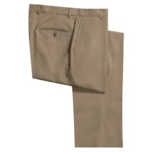 Hickey Freeman Worsted Wool Dress Pants - Flat Front (For Men) in Tan - Closeouts