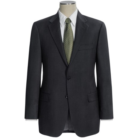Hickey Freeman Worsted Wool Suit - Subtle Herringbone Stripe (For Men) in Charcoal