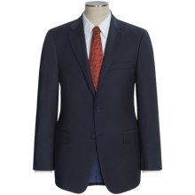 Hickey Freeman Worsted Wool Suit - Subtle Herringbone Stripe (For Men) in Navy - Closeouts