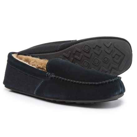 Hideaways by L.B. Evans Grayson Moccasins - Suede (For Men) in Navy - Closeouts