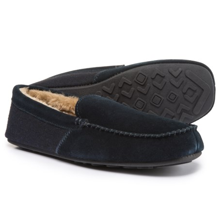 Hideaways by L.B. Evans Grayson Moccasins - Suede (For Men) in Navy