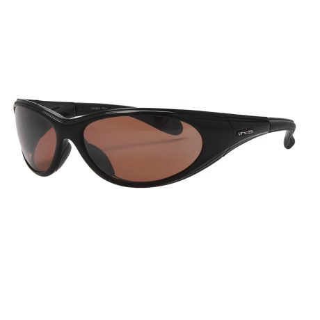 HiDefSpex Monaco Sunglasses - Polarized in Black Gloss/P08 Amber