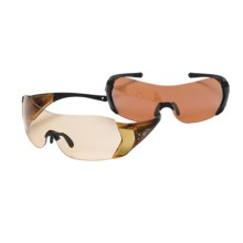 HiDefSpex Raven Hi Definition Sporting Shield Glasses Kit - Varia Lens, 2 Pair in Tortoise/Grey V65/Grey V25 - Closeouts