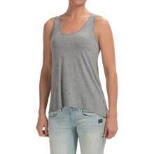 High-Low Hem Slub Shirt - Sleeveless (For Women) in Light Grey - 2nds