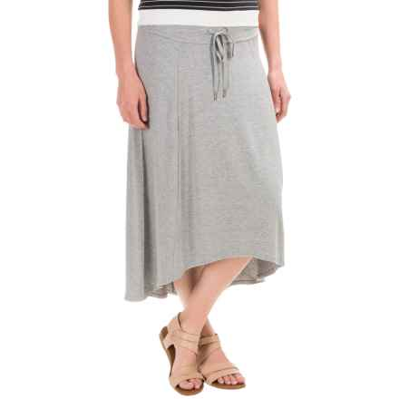 High-Low Midi Skirt (For Women) in Grey - 2nds