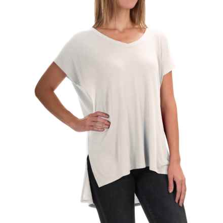 High-Low Shirt - Short Sleeve (For Women) in White - 2nds