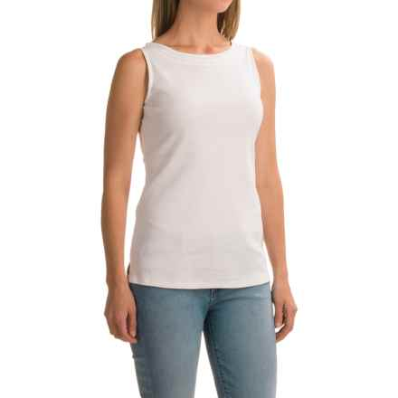 High Neck Tank Top (For Women) in White - 2nds