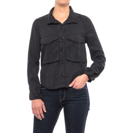 High-Neck TENCEL® Twill Swing Shirt - Long Sleeve (For Women) in Smokey Mountain
