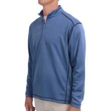 High-Performance Wicking Pullover Shirt - Zip Neck, Long Sleeve (For Men) in Blue - 2nds
