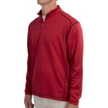 High-Performance Wicking Pullover Shirt - Zip Neck, Long Sleeve (For Men) in Red - 2nds