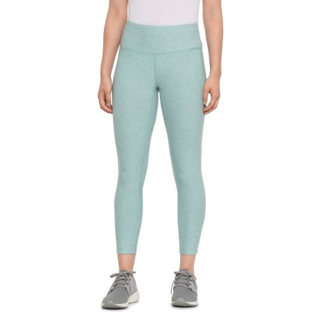 High-Rise Core Cropped Leggings (For Women) - MINERAL SAGE HEATHER (S )