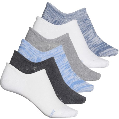 High Rise Liner Socks - 6-Pack, Below the Ankle (For Women) - BLUE (M ) -  Born
