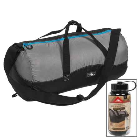 High Sierra 18L Duffel in a Bottle - BPA-Free in Black/Charcoal/Pool - Closeouts