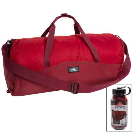High Sierra 18L Duffel in a Bottle - BPA-Free in Brick Red/Carmine/Red Line - Closeouts