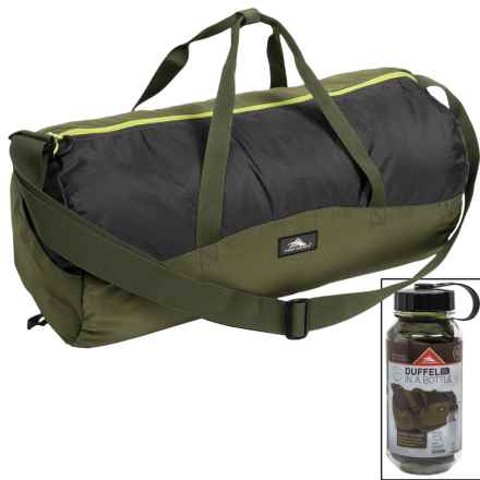 High Sierra 18L Duffel in a Bottle - BPA-Free in Moss/Mercury/Chartreuse - Closeouts