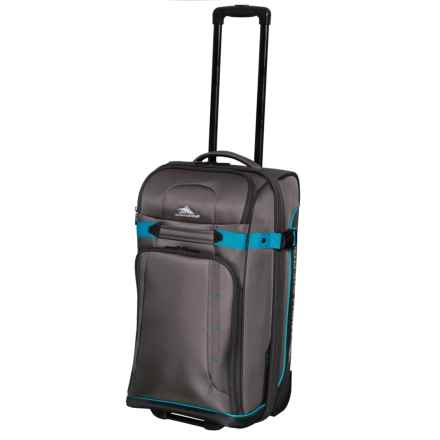 "High Sierra 21"" Evanston Rolling Carry-On Upright Suitcase in Slate/Mercury/Pool - Closeouts"