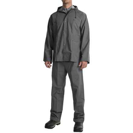 High Sierra 35mm PVC Rain Jacket and Pants Set - Waterproof (For Men and Women) in Mercury - Closeouts