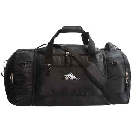 High Sierra 4-in-1 Cargo Duffel Bag in Black - Closeouts