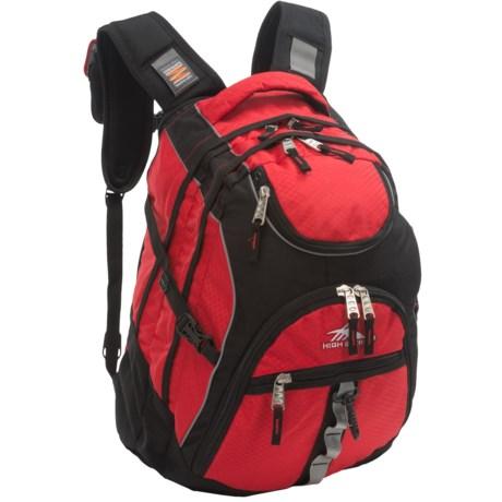 12b8e135b9 High Sierra Access Backpack in Crimson Black