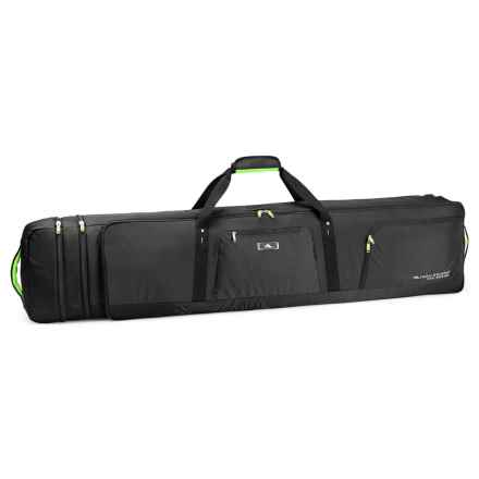 High Sierra Adjustable Rolling Ski and Snowboard Bag in Black/Zest - Closeouts