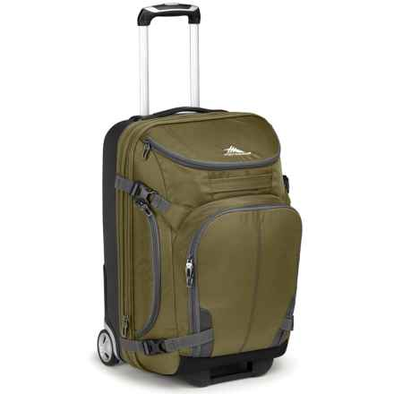 "High Sierra Adventour Hybrid Rolling Carry-On Suitcase - 22"" in Moss/Charcoal - Closeouts"