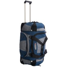 "High Sierra A.T. Gear Duffel Bag - 26"", Wheeled in Dark Denim/Steel/Black - Closeouts"