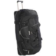 "High Sierra A.T. Gear Wheeled Duffel Bag - 36"", Drop Bottom in Black - Closeouts"