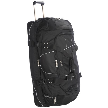 "High Sierra A.T. Gear Wheeled Duffel Bag - 36"", Drop Bottom in Black"