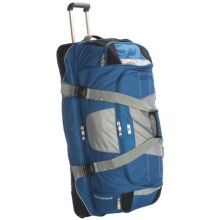 "High Sierra A.T. Gear Wheeled Duffel Bag - 36"", Drop Bottom in Blue - Closeouts"